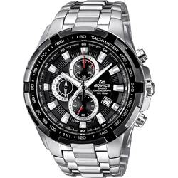 Náramkové hodinky Casio EF-539D-1AVEF, (d x š x v) 53.5 x 48.5 x 11.5 mm, strieborná, čierna