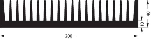 Kühlkörper 0.7 K/W (L x B x H) 100 x 200 x 40 mm Fischer Elektronik KUEHLKOERPER