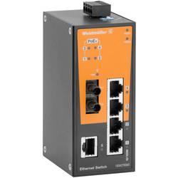 Priemyselný ethernetový switch Weidmüller IE-SW-BL06T-1TX-4POE-1ST, 10 / 100 Mbit/s, funkcia PoE