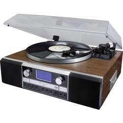 USB gramofón soundmaster PL905 s remienkovým náhonom, drevo