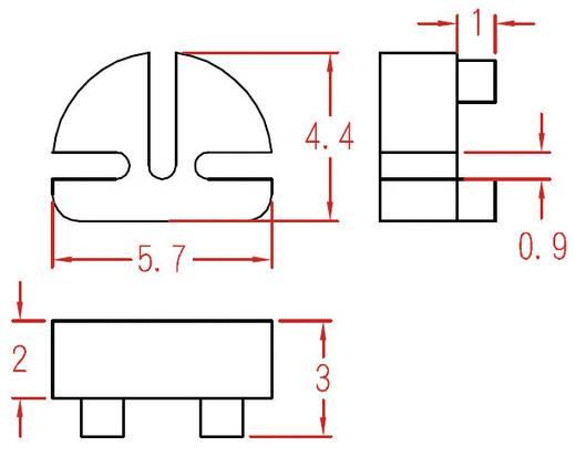 Transistor-Abstandshalter 1 St. TRW3 KSS Passend für Gehäuse (Halbleiter): TO-92 (L x B x H) 5.7 x 4.4 x 3 mm
