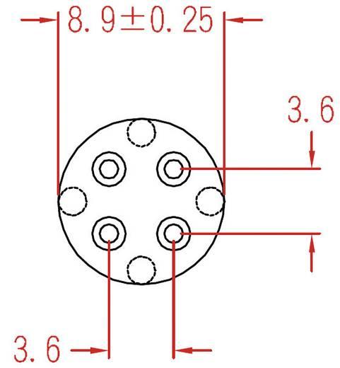 Transistor-Abstandshalter 1 St. TRW5 KSS Passend für Gehäuse (Halbleiter): TO-92, TO-39 Rastermaß: 3.6 mm (Ø x H) 8.9 mm