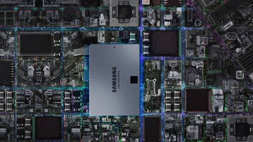 Samsung 860 QVO Interne SSD 6.35 cm (2.5 Zoll) 1 TB Retail MZ-76Q1T0BW SATA III