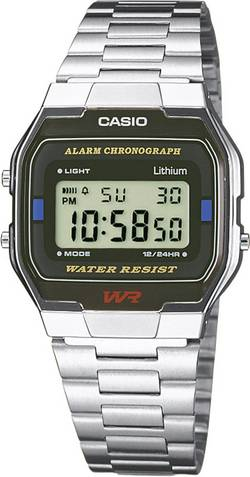 Image of Casio Chronograph Armbanduhr A163WA-1QES (L x B x H) 36.8 x 33 x 9.1 mm Silber Gehäusematerial=Edelstahl Material