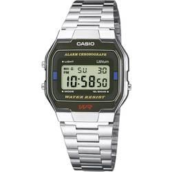 Náramkové hodinky Casio A163WA-1QES, (d x š x v) 36.8 x 33 x 9.1 mm, strieborná