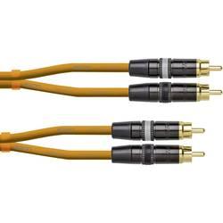 Prepojovací kábel Cordial CEONDJRCA3O [1x cinch zástrčka - 1x cinch zástrčka], 3 m, oranžová