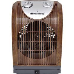 Keramický topný ventilátor Sonnenkönig Woody 2 Woody 2, 2000 W, dřevo (tmavé), šedá (matná)