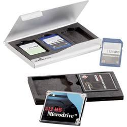 Organizér na pamětové karty Durable 530923 paměťová karta SD, karta Cfast stříbrná