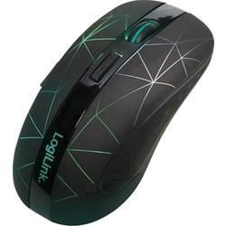 Optická bezdrôtová myš LogiLink ID0171 ID0171, podsvietenie, čierna