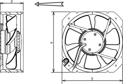 Axiallüfter 230 V/AC 1705 m³/h (L x B x H) 280 x 280 x 80 mm Ecofit 2VGC25 250V (D27-A0)