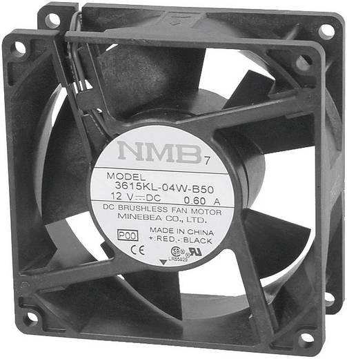 Axiallüfter 12 V/DC 93 m³/h (L x B x H) 92 x 92 x 25 mm NMB Minebea 3610KL-04W-B50-P00