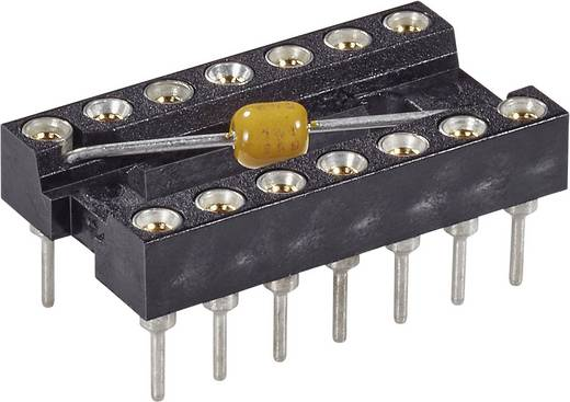 IC-Fassung Rastermaß: 15.24 mm Polzahl: 28 MPE Garry MPQ 28.6 STG B 100 nFU Präzisions-Kontakte, mit Kondensator 1 St.