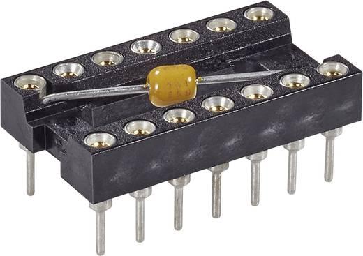 MPE Garry MPQ 16.3 STG B 100 nFU IC-Fassung Rastermaß: 7.62 mm Polzahl: 16 Präzisions-Kontakte, mit Kondensator 1 St.