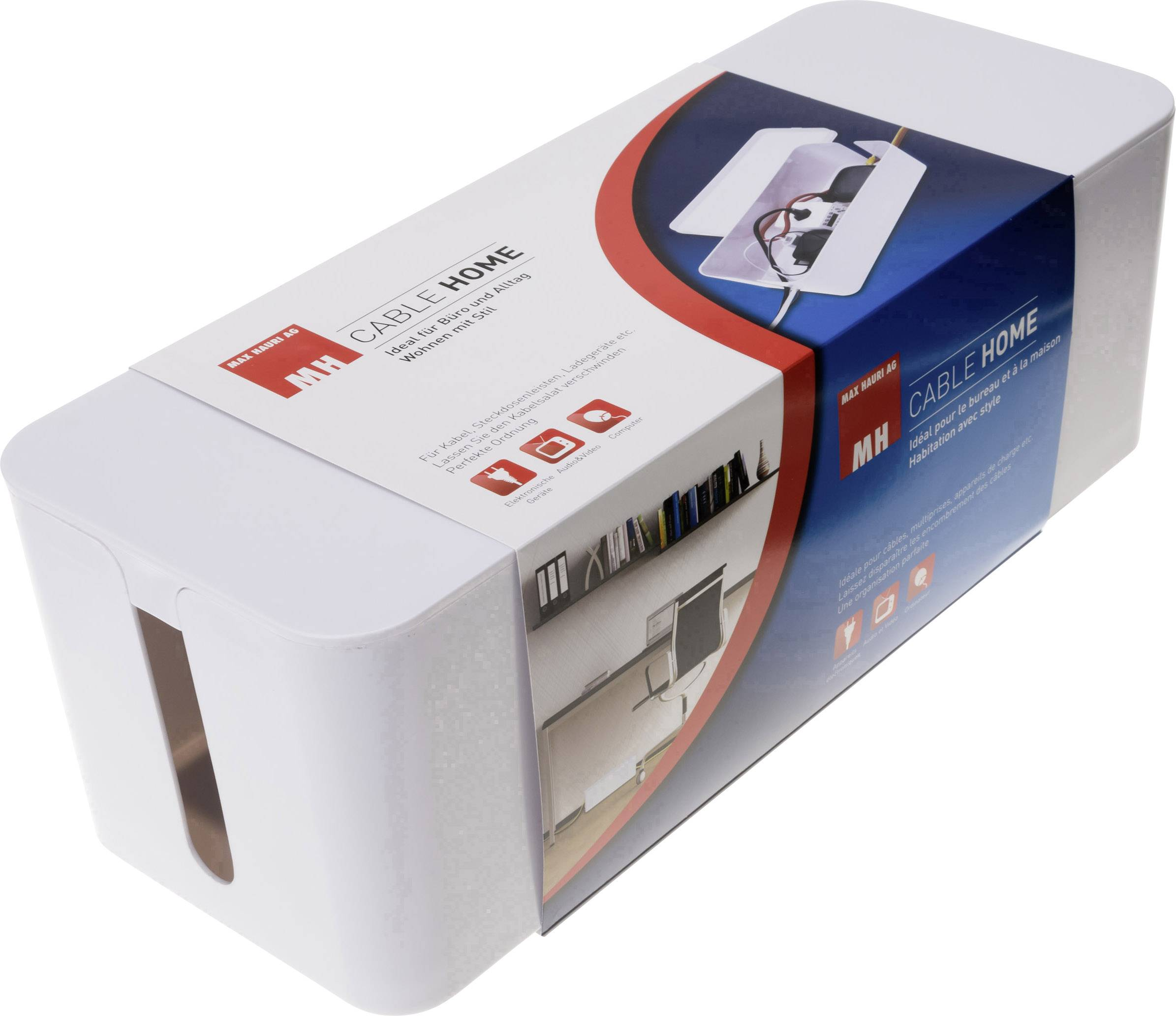 Max Hauri AG Kabel-Box Weiß (L x B x H) 400 x 155 x 135 mm 1 St. 126730