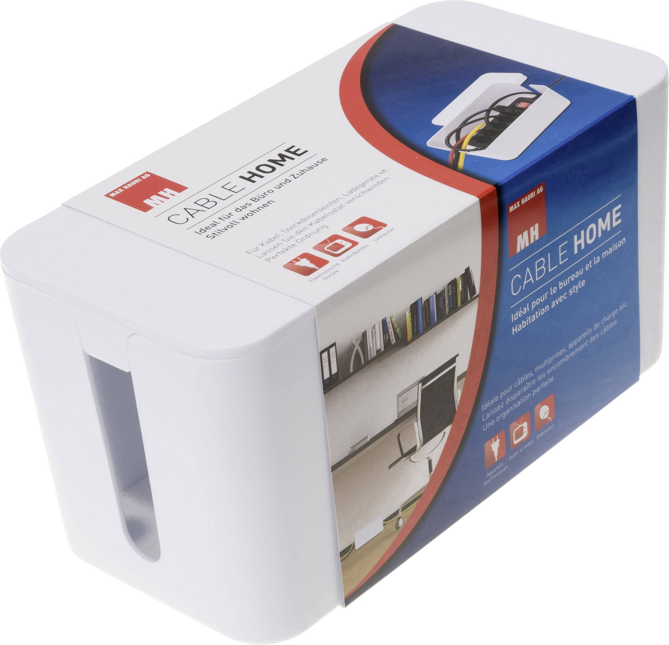 Max Hauri AG Kabel-Box Weiß (L x B x H) 235 x 115 x 120 mm 1 St. 126731