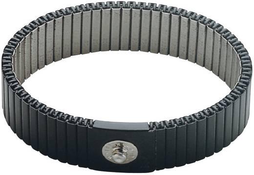 ESD-Handgelenkband Grau beliebig zu kürzen BJZ C-189 146 4,0 ELL Druckknopf 4 mm