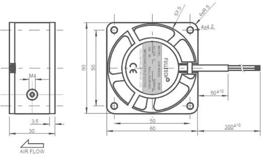 Axiallüfter 230 V/AC 14 m³/h (L x B x H) 60 x 60 x 30 mm SEPA UF60D23BWH