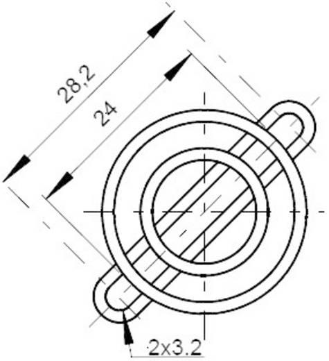 Lüftergitter 1 St. FG25 SEPA (B x H) 25 mm x 25 mm Stahl verchromt