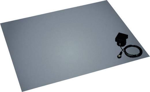 ESD-Bodenmatten-Set Platin-Grau (L x B x H) 1500 x 1200 x 3.5 mm BJZ C-211 152 10,3 inkl. Erdungsstecker
