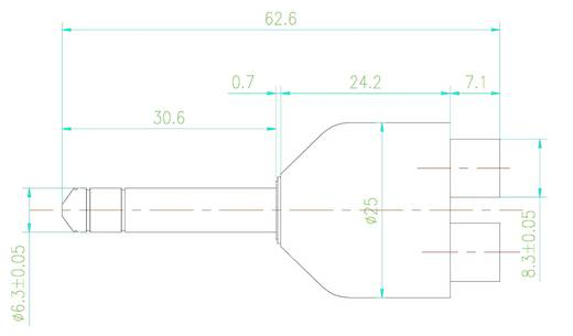 SpeaKa Professional 189748 Klinke / Cinch Audio Y-Adapter [1x Klinkenstecker 6.35 mm - 2x Cinch-Buchse] Schwarz