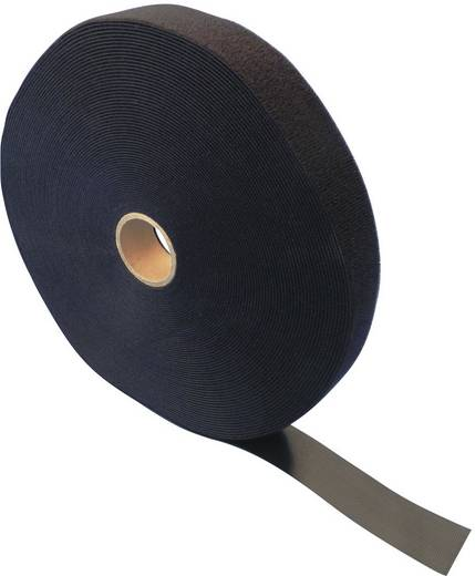 Klettband zum Bündeln Haft- und Flauschteil (L x B) 25000 mm x 25 mm Schwarz Fastech ETN FAST-Strap 25 MM 25 m