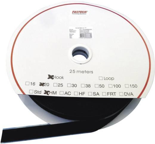 Klettstreifen zum Aufkleben Flauschteil (L x B) 25000 mm x 25 mm Schwarz Fastech LOOP HM PS-A69M 25 m