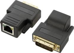 DVI prodloužení, síťový kabel, CAT5 70 m, pár