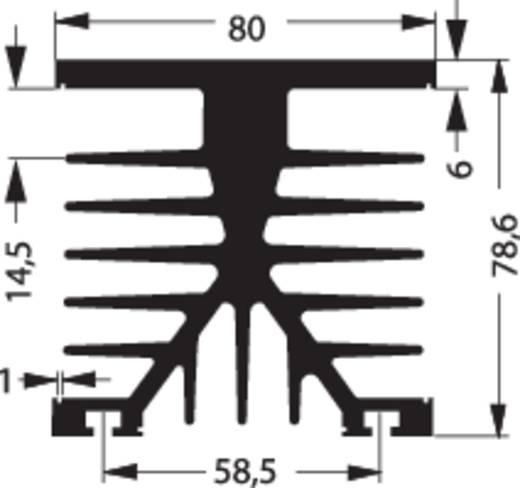 Kühlkörper 1 K/W (L x B x H) 100 x 75 x 87 mm Fischer Elektronik SK 89 100 KL-SSR2