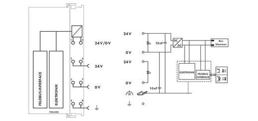 SPS-Busanschluss WAGO 750-320 24 V/DC