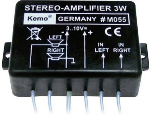 Stereo-Verstärker Baustein Kemo M055 9 V/DC 3 W 8 Ω