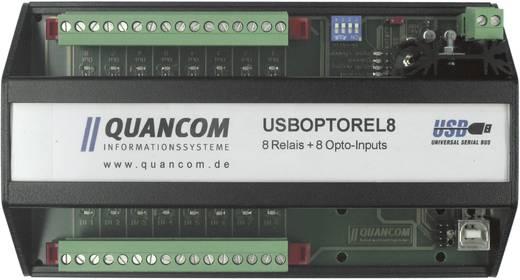 I/O-Modul Quancom USBOPTOREL8 USB Anzahl digitale Eingänge: 8 Anzahl Relais-Ausgänge: 8