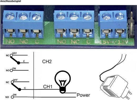 2-Kanal Funkschaltsystem TowiTek inkl. 5 Handsender Reichweite max. (im Freifeld): 50 m 12 V/DC