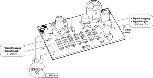 Vorverstärker Bausatz Kemo B073 12 V/DC, 24 V/DC, 30 V/DC