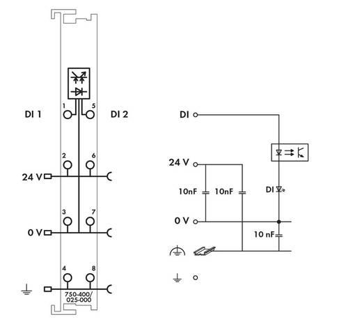 SPS-Eingangskarte WAGO 750-400/025-000 24 V/DC