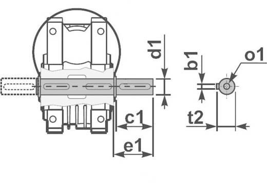 Drehstrommotor MSF-Vathauer Antriebstechnik GM 0,75-MS-HY-Q75-i50-B14 IE2 0.75 kW 2.0 A 230 V/400 V B14 28 U/min 176 Nm