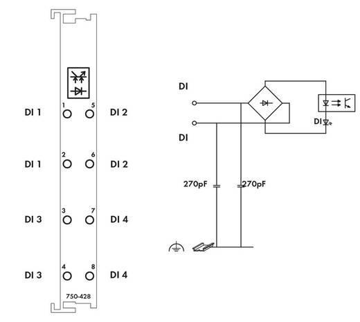 SPS-Eingangskarte WAGO 750-428 42 V/DC, 42 V/AC