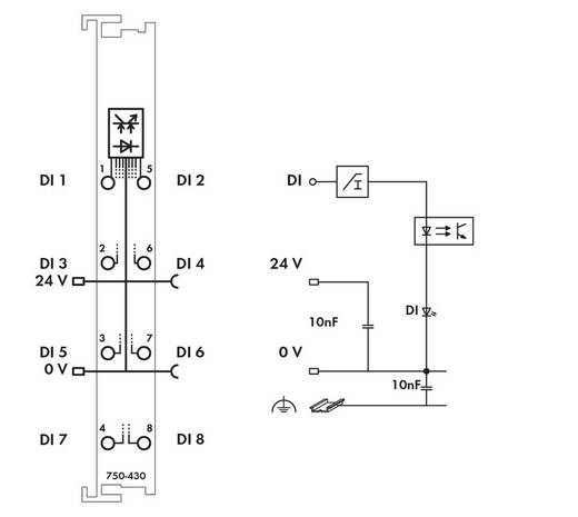 SPS-Eingangskarte WAGO 750-430 24 V/DC