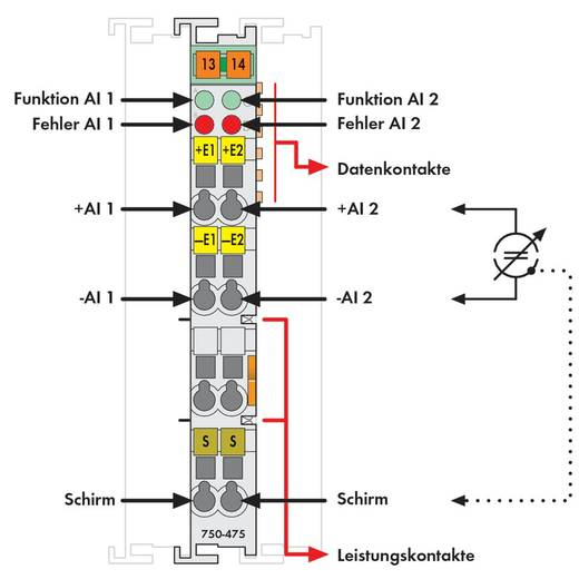 WAGO SPS-Analogeingangsmodul 750-475 1 St.