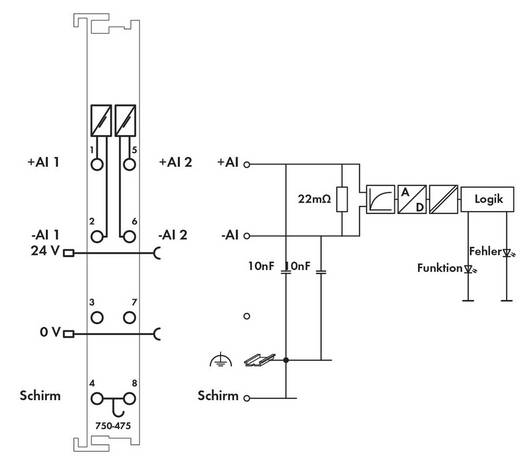 SPS-Eingangskarte WAGO 750-475 24 V/DC