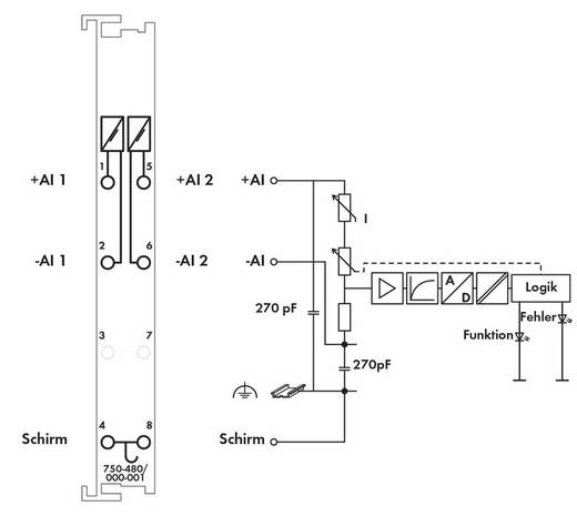 WAGO SPS-Analogeingangsmodul 750-480/000-001 1 St.