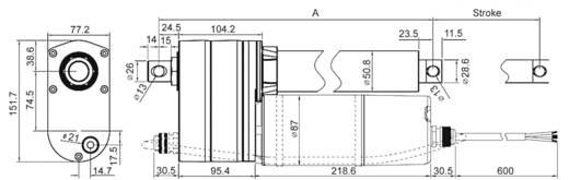 Elektrozylinder 230 V/AC Hublänge 610 mm 3500 N Drive-System Europe DSZY5