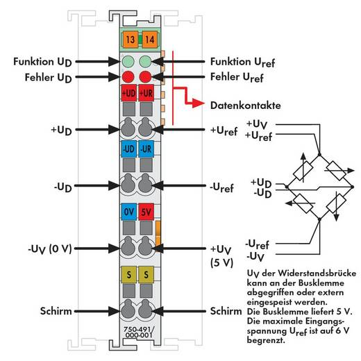 WAGO SPS-Analogeingangsmodul 750-491/000-001 1 St.
