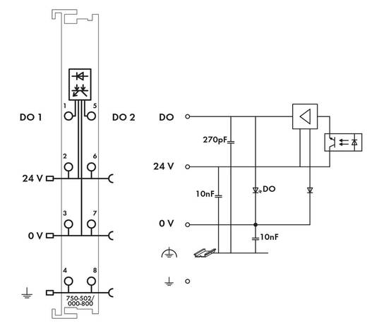 WAGO SPS-Digitalausgangsmodul 750-502/000-800 1 St.