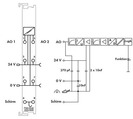 WAGO SPS-Analogausgangsmodul 750-554/025-000 1 St.