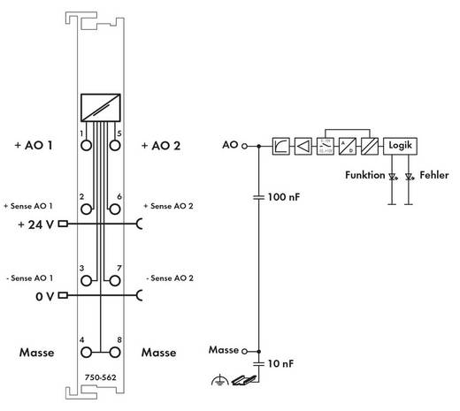 WAGO SPS-Analogausgangsmodul 750-562 1 St.
