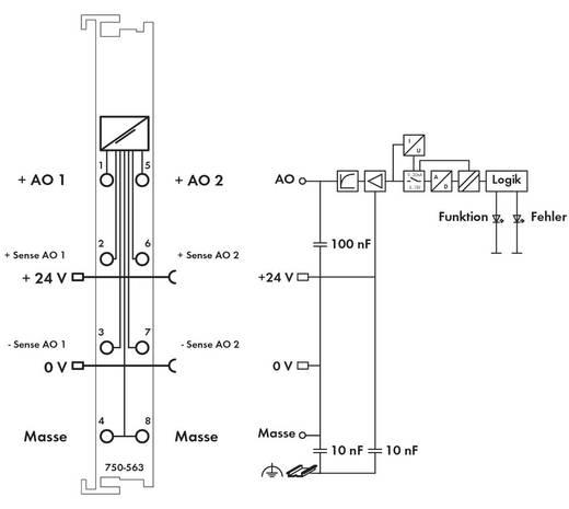 SPS-Ausgangskarte WAGO 750-563 24 V/DC