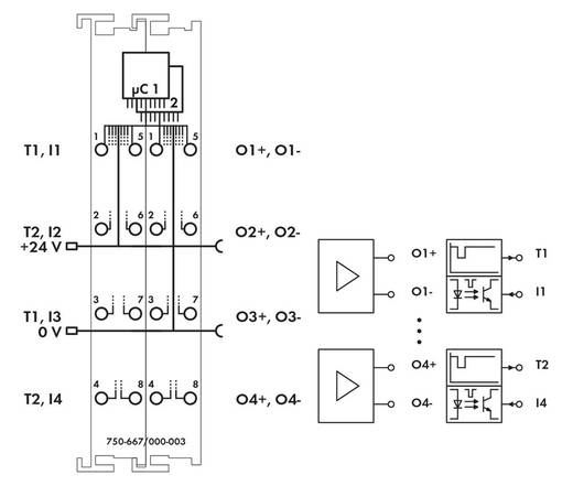 SPS-Erweiterungsmodul WAGO 750-667/000-003 24 V/DC