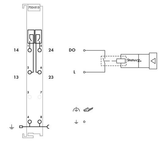 SPS-Ausgangskarte WAGO 753-513 230 V/DC, 230 V/AC