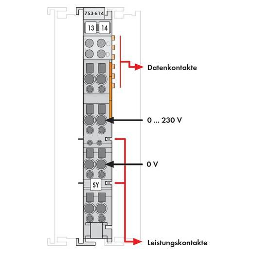 SPS-Klemme WAGO 753-614 230 V/DC, 230 V/AC