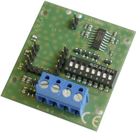 Sendemodul SVS Nachrichtentechnik TX-121 Reichweite max. (im Freifeld): 1000 m 4.5 V/DC, 12 V/DC, 16 V/DC